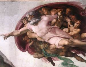 Michelangelo-Buonarroti-God-the-Father-with-Lady-Wisdom-creating-Adam-detail-Cappella-Sistina-Vatican-1510